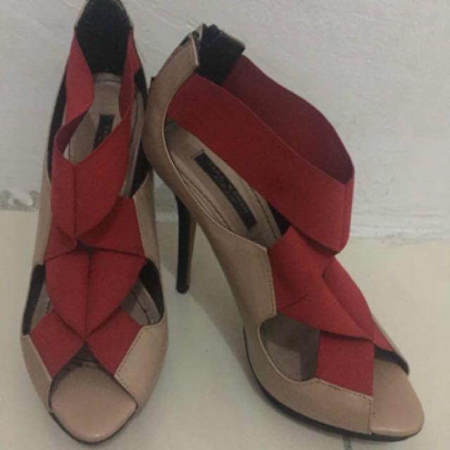 Zara Stripe Heel