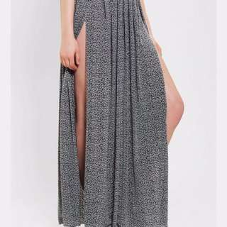 silence + noise maxi skirt urban outfitters