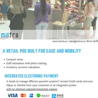 Mobile POS for pop-up and pushcarts
