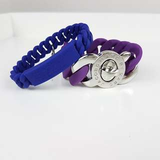 2 Marc Jacobs Rubber Bracelets