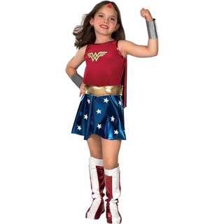 Wonder Woman Costume Child Girls L 12-14 Superhero Halloween