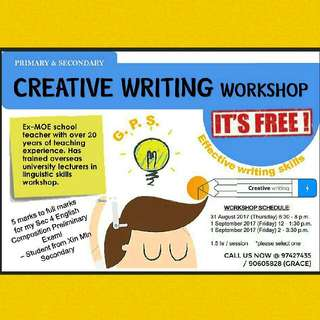 FREE Session of Creative Writing Workshop
