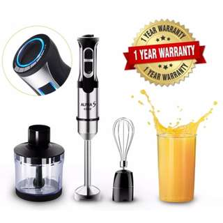 Multi Functional 8 Speed Hand Blender Food Processor and Mixer With Speed Control(Malaysia 3 pin Plug)