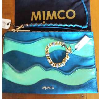 mimco depths pouch excellent used condition plus free brand new mimco piccadilly bracelet