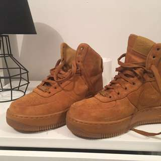 Nike Airforce Mid Limited Edition Tan Suede