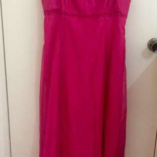 Purple patch -pink formal dress