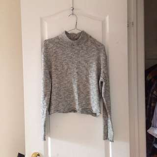 Grey Abercrombie turtleneck