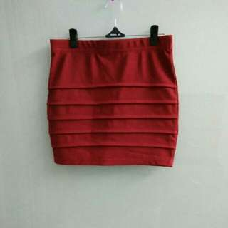Maroon Skirt #Bajet20
