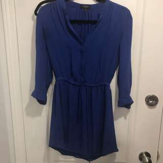 Artizia royal blue silk dress