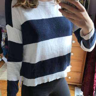 Forever 21 Navy Striped Sweater