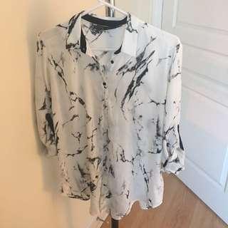 Zara marble shirt size S