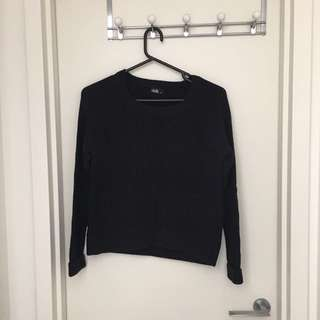 dotti short black sweater