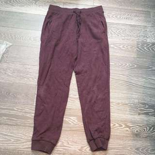 Burgandy sweatpants