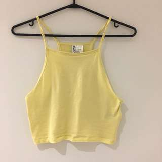Retro yellow tank