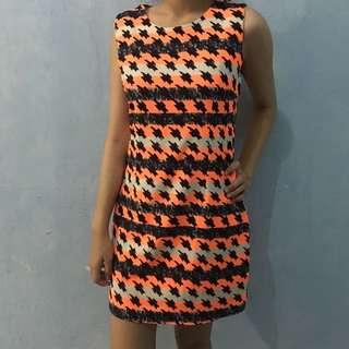 dresss motif orange