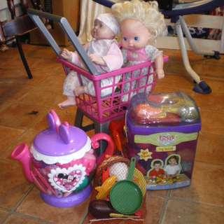 Bundle of toys set for girls