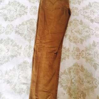 Brown skinny pants