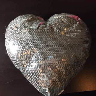 Sparkly throw pillow