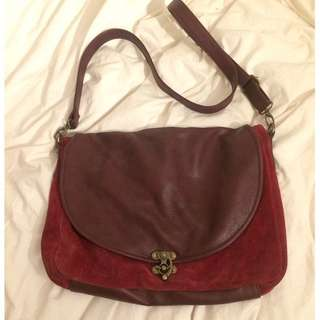 Burgundy Suede Bag