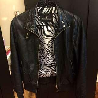 Bruno Banani 100% Lamb Leather Jacket- Size Small