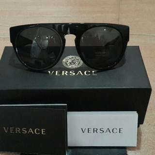 Versace Black Greek Key Sunglasses