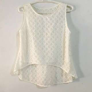 ‼️REPRICED‼️White Lace Top