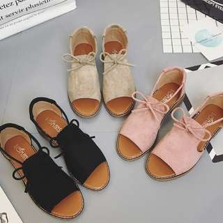 (PO) Strap Covered Sandals