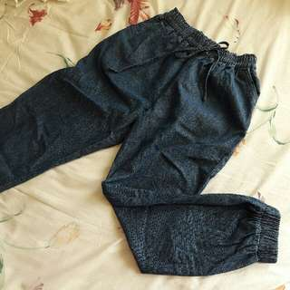 B20 - Denim Jogger Pants