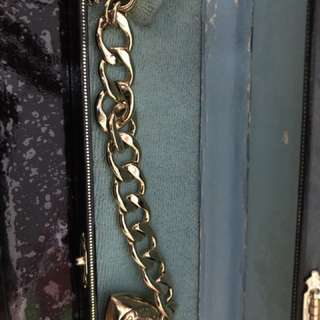 Juicy Couture gold plated bracelet w/ heart charm