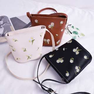 (PO) Embroidery Sling Bags