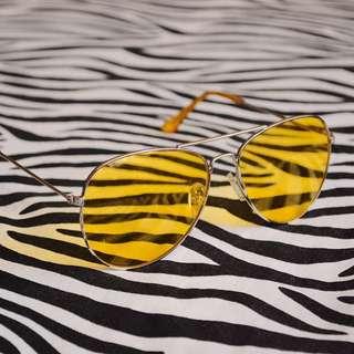 Lemon Yellow Aviator Sunglasses