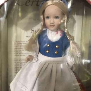 Porcelain Doll 。 精緻公仔。收藏品。芬蘭。Folklore。手製。Handmade