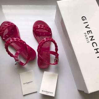 Givenchy Pink Jelly Sandals