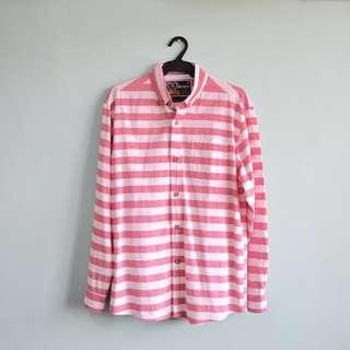 Pink & White Stripes Button Down