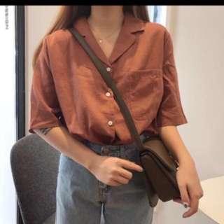 棉麻襯衫 五分袖襯衫 薄款
