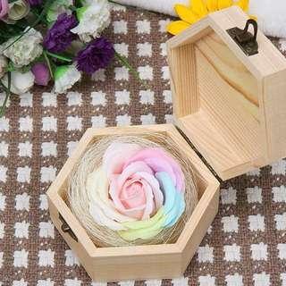 Pastel Rose Ring Bearer Box