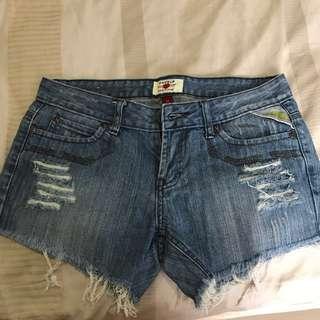 Denim Hot Pants Ripped Sz 28