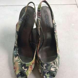 Canvas Wedge Sandals brandnew size 8