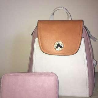 Handbags and backpack
