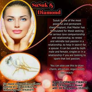 916 Gold Needle implants and Diamonds