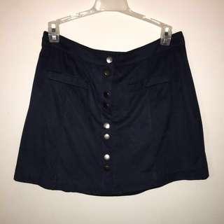 Garage Suede Button Down Skirt