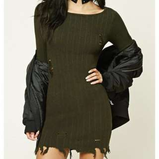 Forever 21 Distressed Knit Dress