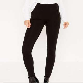 Glassons Black High Waisted Ponte Tights Leggings Size 6