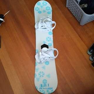 Girls Womens Snowboard With Bindings