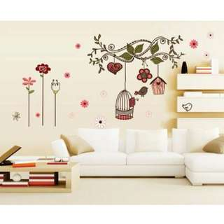 Wall Sticker Flower and Cage