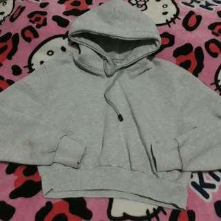 Crop Hoodie Grey Size M