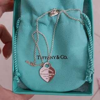 Tiffany Heart Shaped Necklace