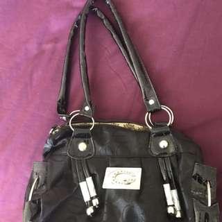 Black G handbag