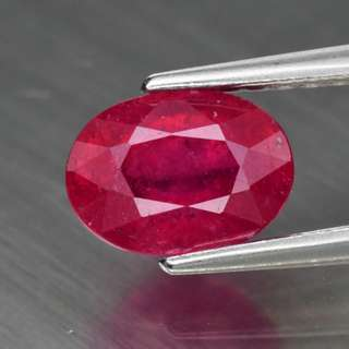 1.43ct Oval Natural Pinkish Red Ruby