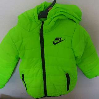 Kids Green Puffer Jacket